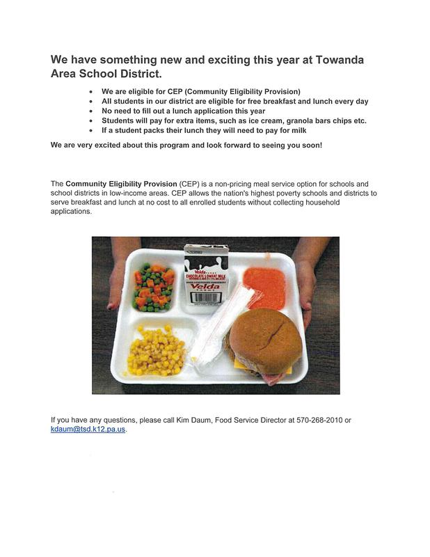The Community Eligibility Provision (CEP) is a non-pricing meal service option for schools and school districts in low-income areas. CEP allows the nation's highest poverty schools and districts to serve breakfast and lunch at no cost to all enrolled students without collecting household applications.