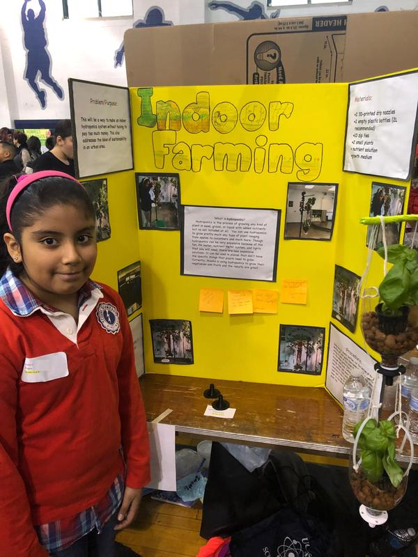 Edison student sophy research indoor farming