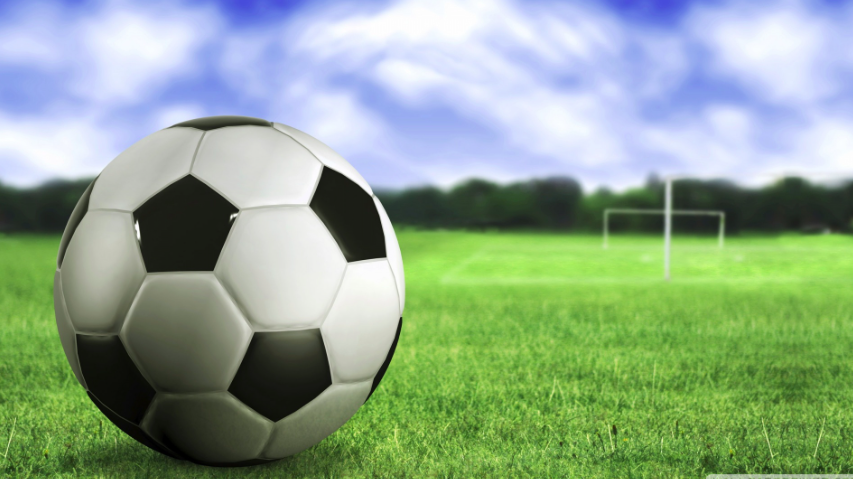 Soccer ball and field
