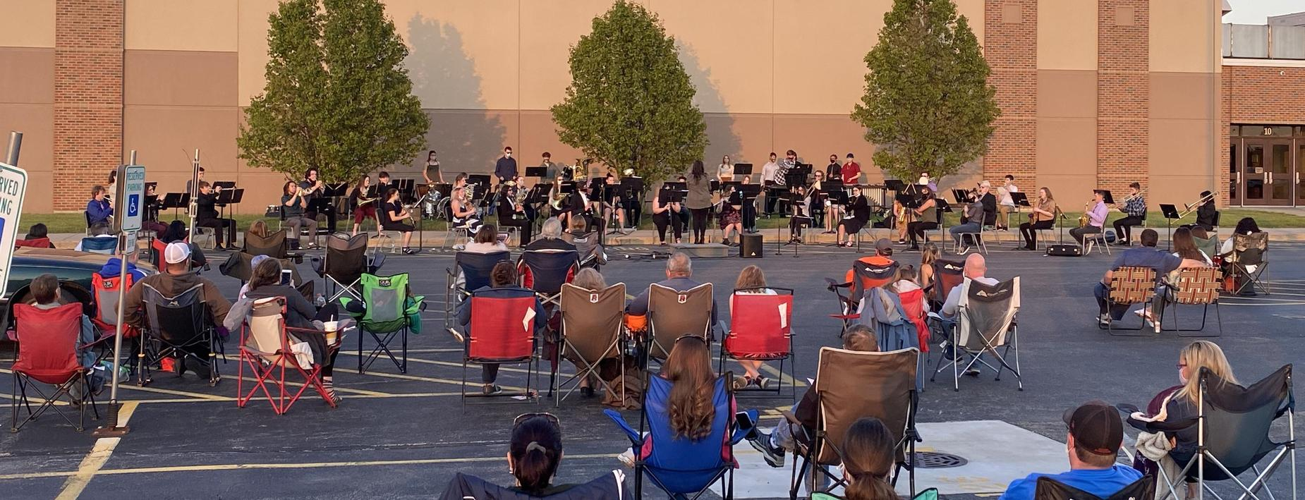HS Band performance in May