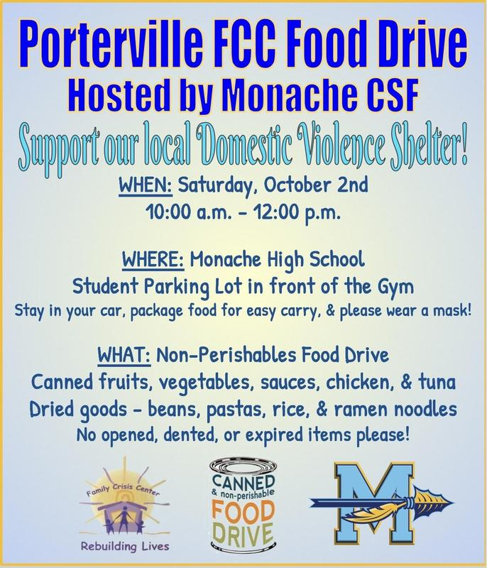 CSF Can Food Drive Flyer