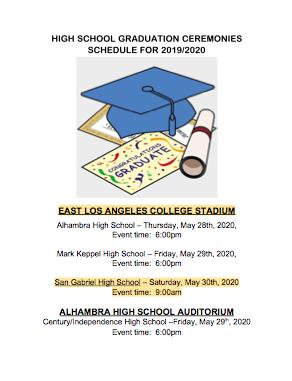 AUSD High School Graduation Flyer
