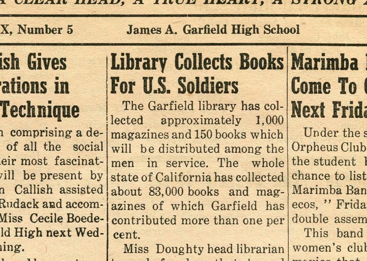 Library for soldiers