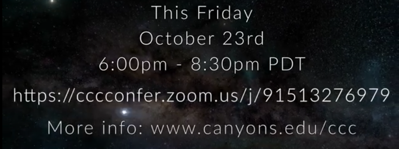 CCC Virtual Science Talk & Star Party