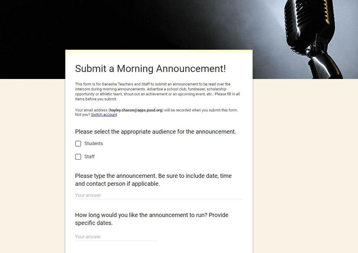 Morning Announcement Picture