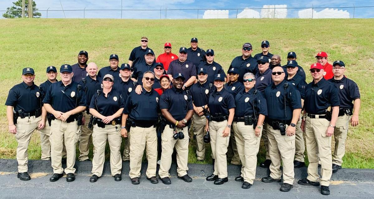 Columbia County School District School Safety Officers grouped together smiling