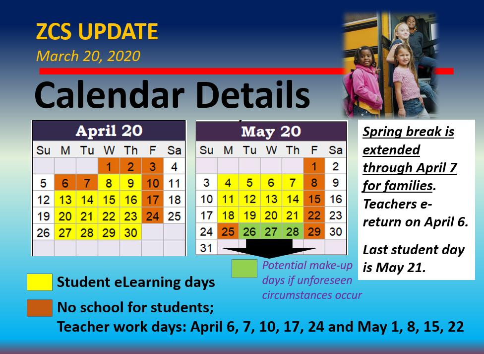 April & May Calendar 2020