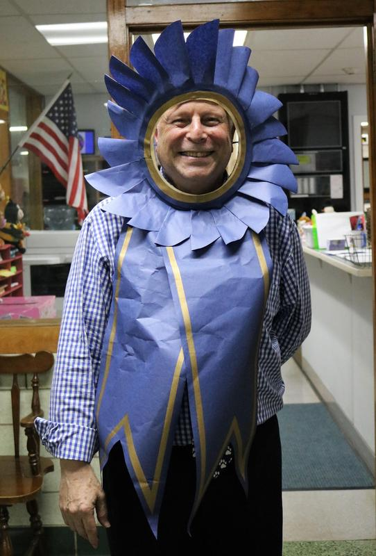 Photo of principal Dr. Andrew Perry dressed as a