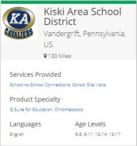 Kiski Area on Google Reference Site