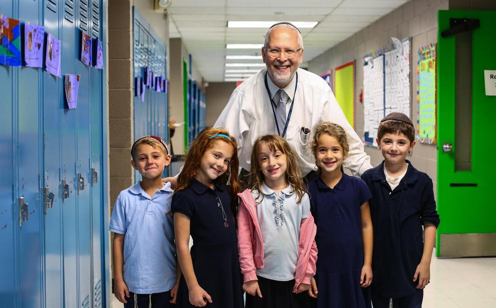Rabbi Zucker with Students