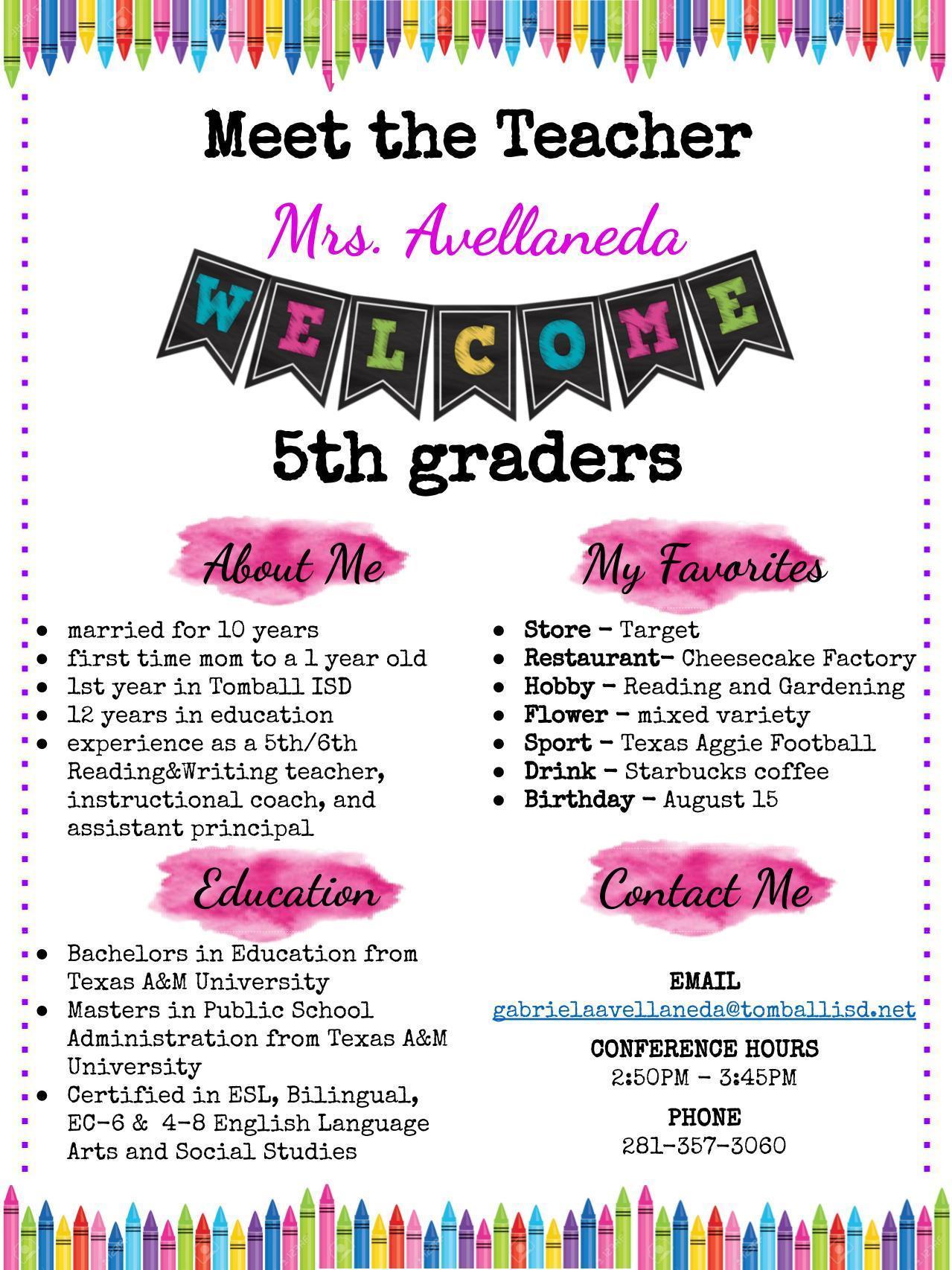 Mrs. Avellaneda (Ah-ve-YA-neh-Da)