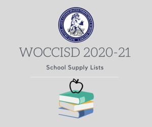 2020-21 school supply lists logo