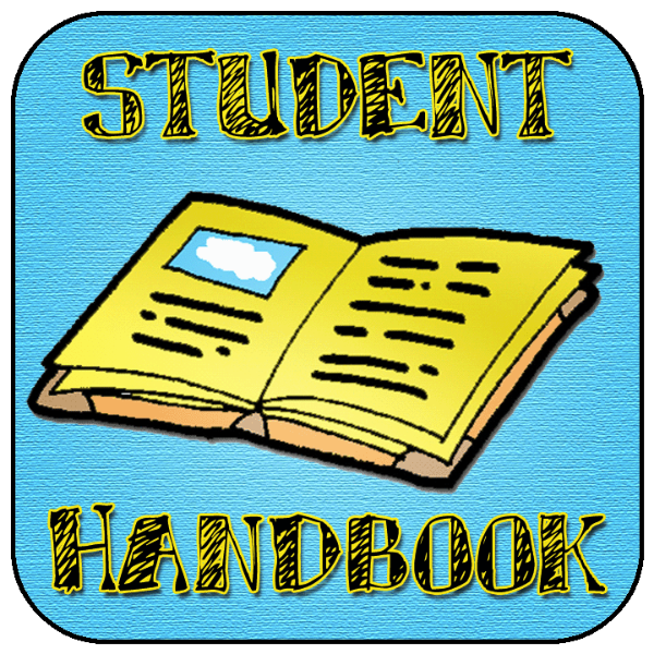 drawing of a student handbook