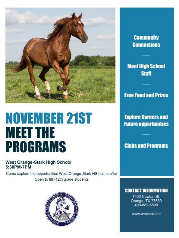 Meet the Programs flyer
