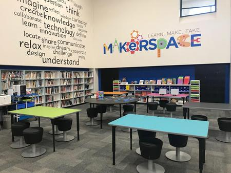 makerspace area of the library