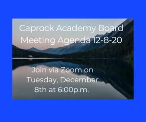 Agenda for CABOD 12-8-20