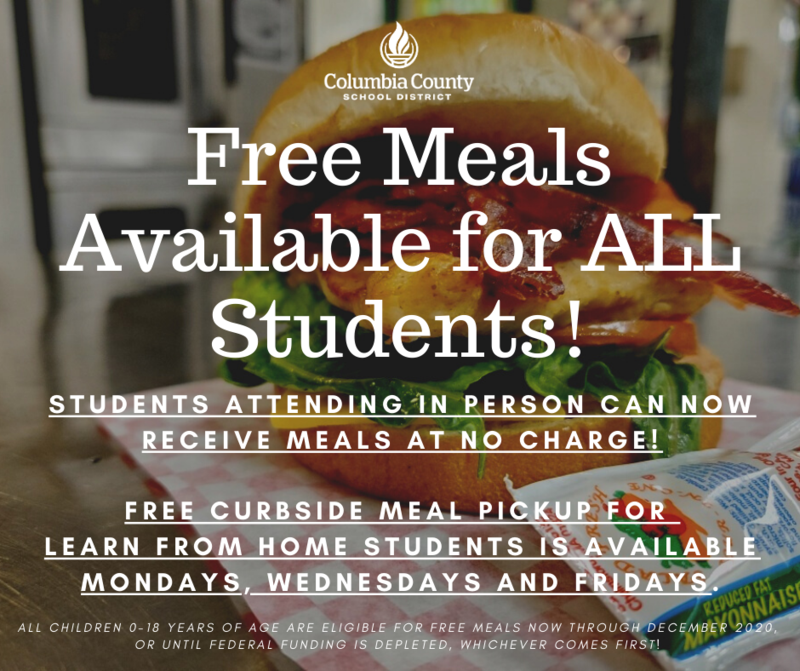 Free food for all students graphic