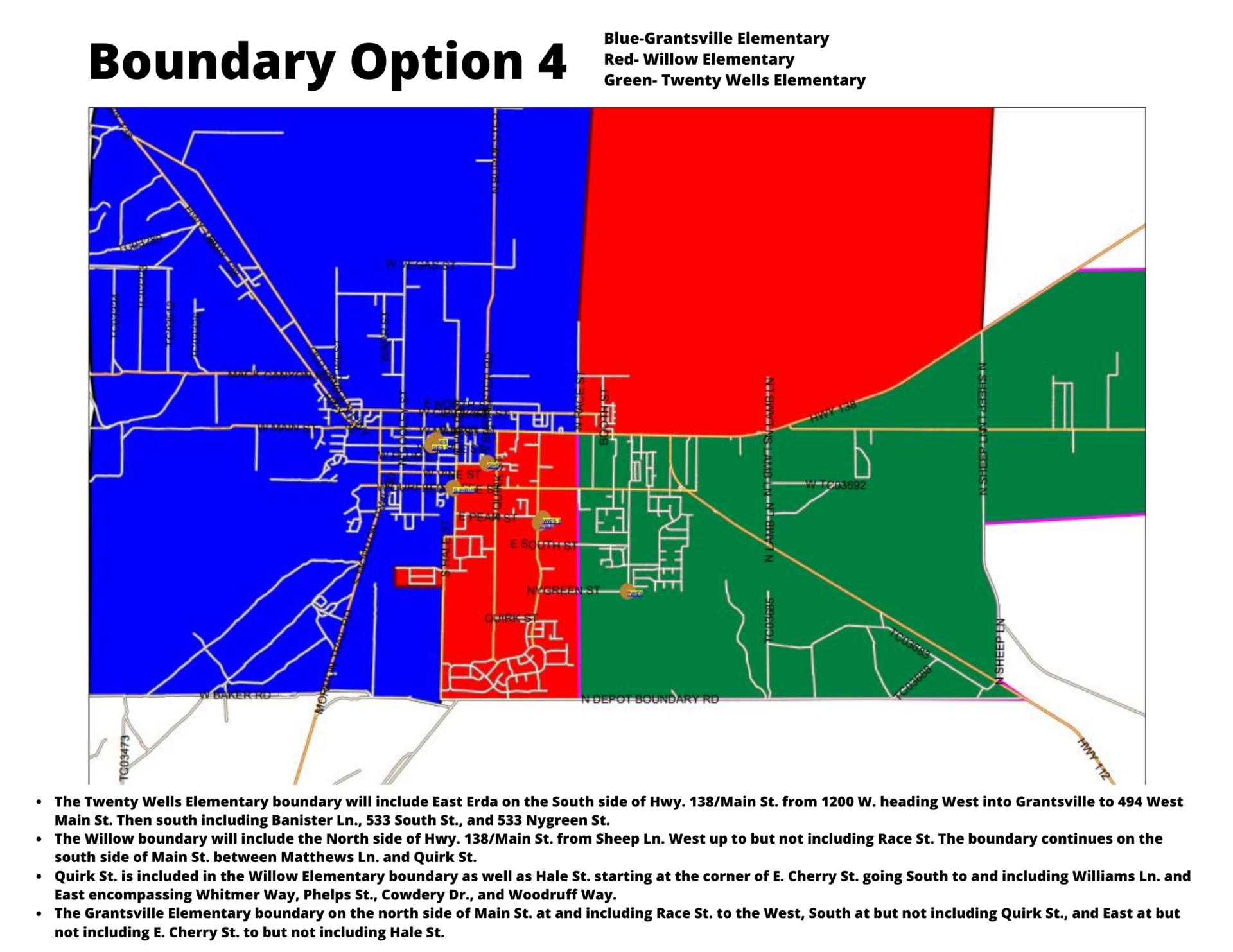 Map of boundary option 4