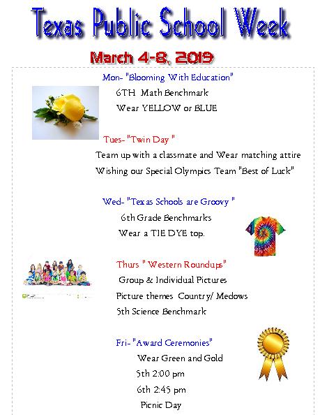 Event Calendar for Texas Public Schools Week Featured Photo
