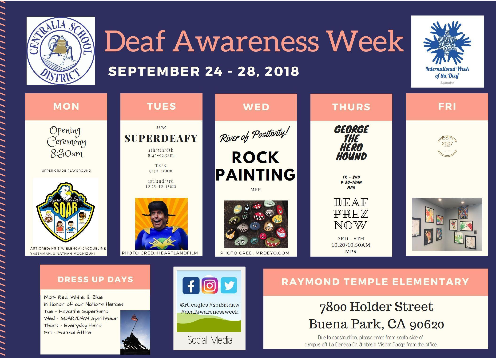 Deaf Awareness Week calendar of events