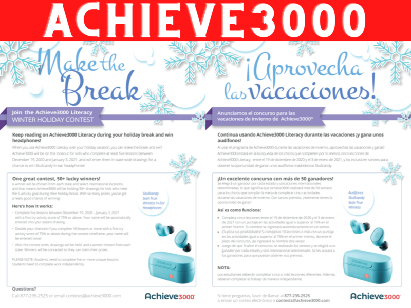 Achieve3000 Winter Holiday Contest
