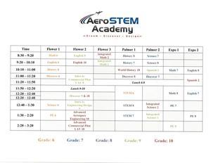 2019-2020 Class Schedule