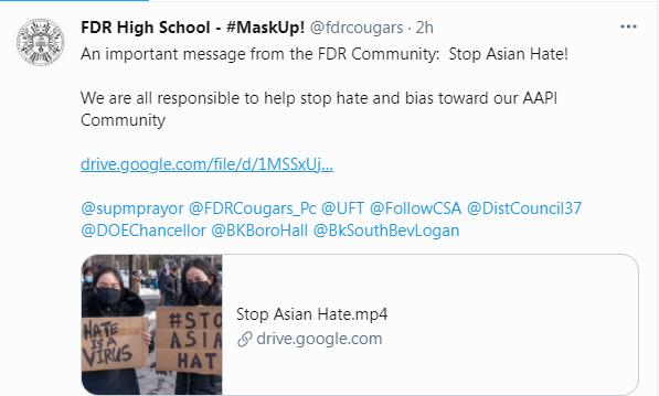 Anti-Racist Message - AAPI