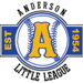 Anderson Little League, established 1954.