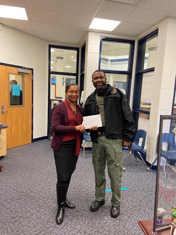 Long Middle Recognizes Student Resource Officer Featured Photo