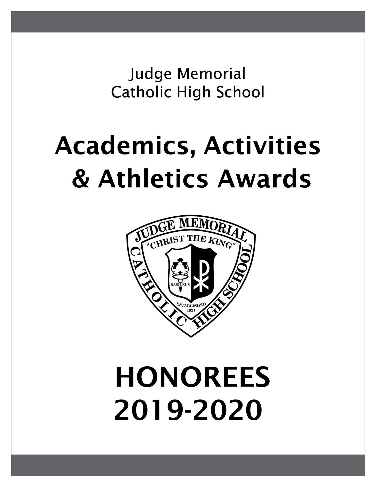 Awards Celebration 2020 Honorees