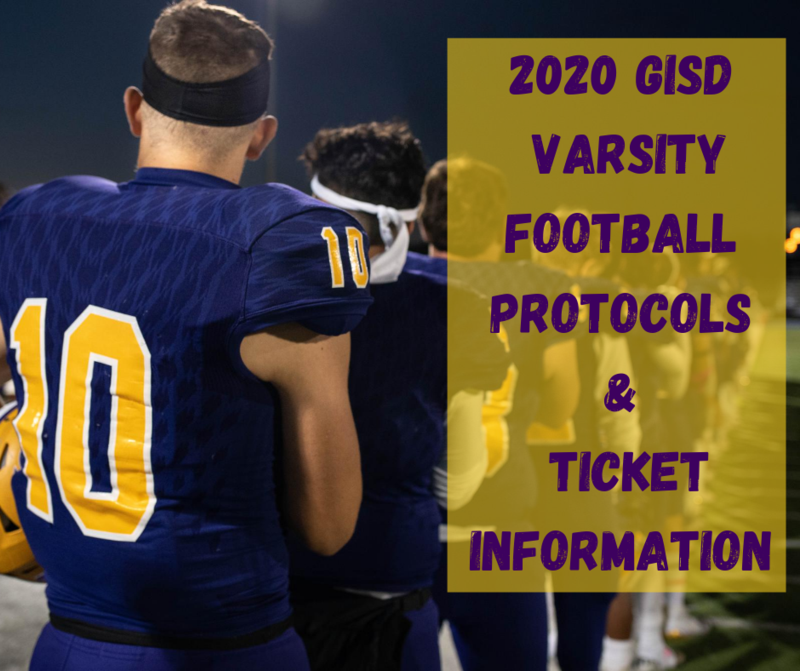2020 GISD varsity football protocol & ticket info