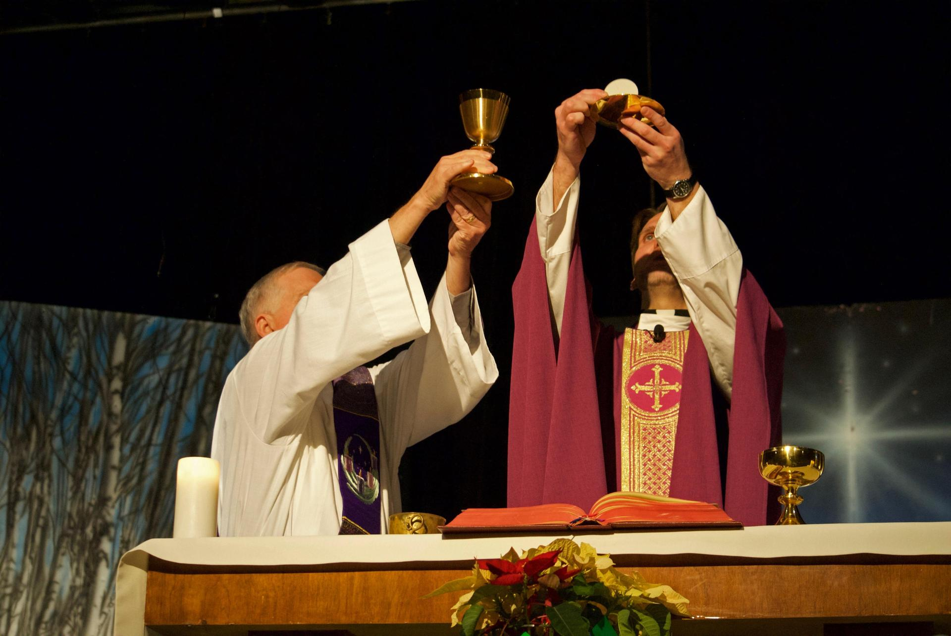 Mass celebrated at school