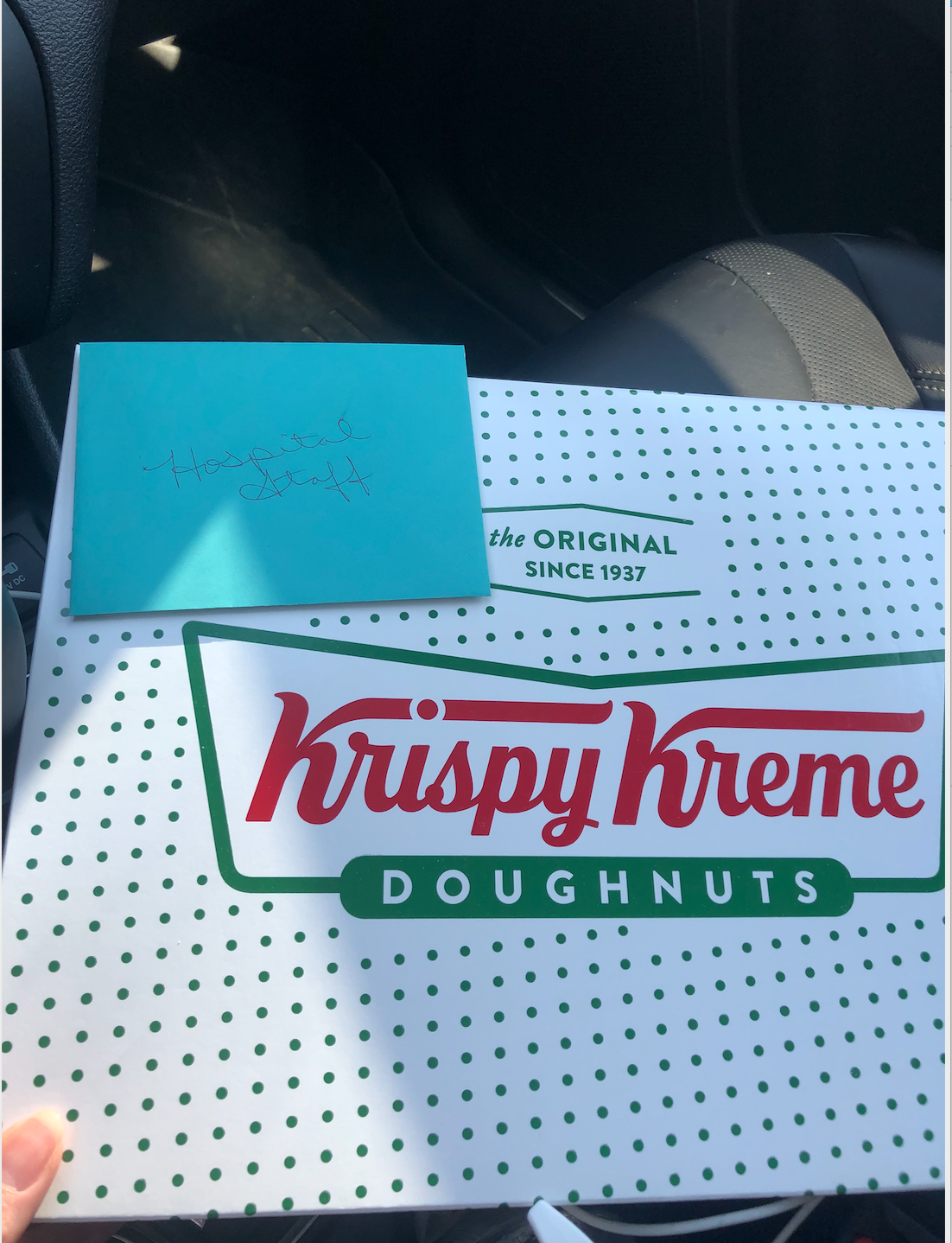 Stephanie Mendrala's donation of donuts to medical workers