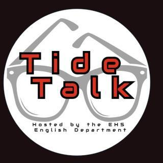 Tide Talk logo, a pair of glasses in a white circle