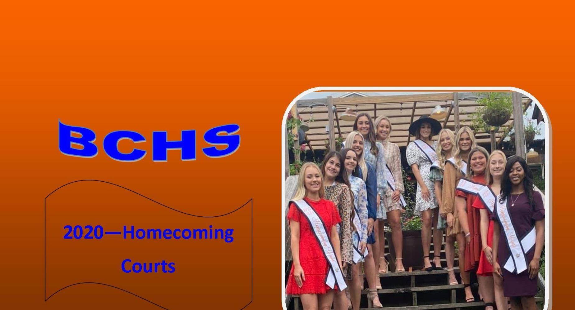 2020 BCHS Homecoming Courts