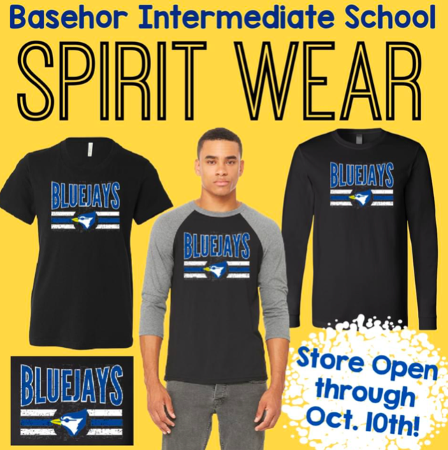 Image of Basehor Bluejay shirts available for sale in our online shop.