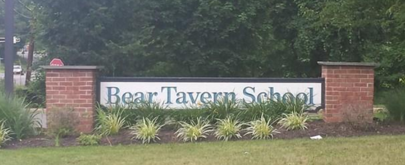 Bear Tavern Elementary school sign