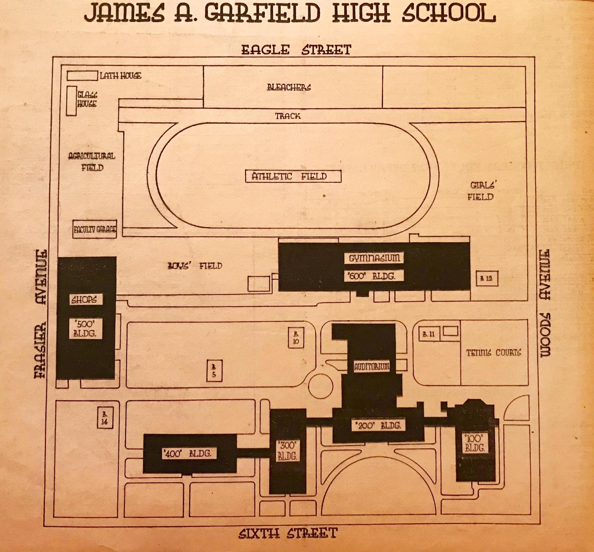 School layout 1940s