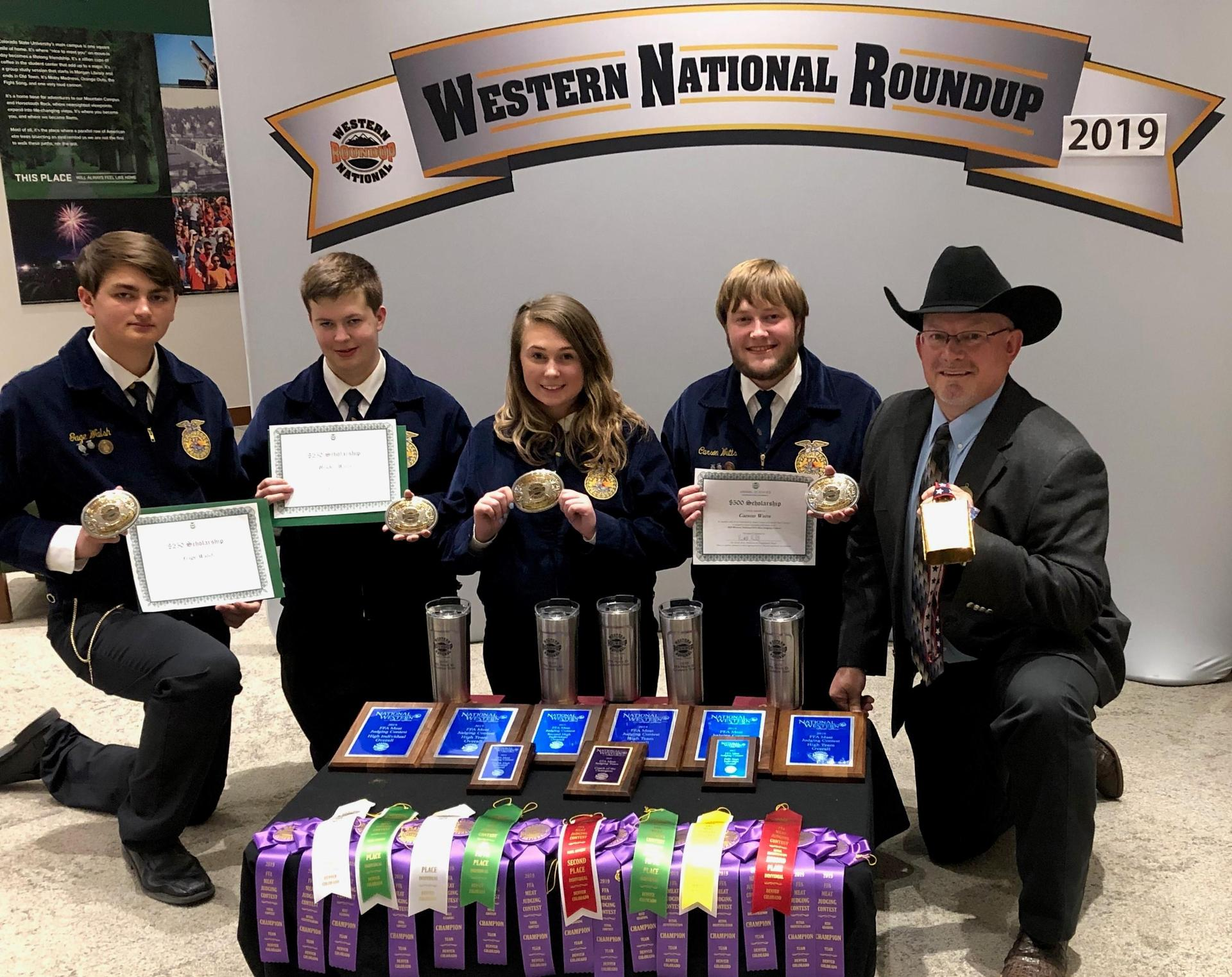 Deer Park High School FFA Meats Team