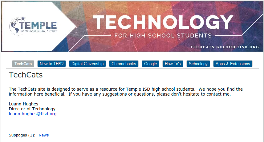 THS Student Technology Website