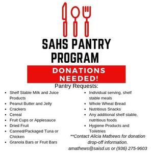 SAHS Pantry program