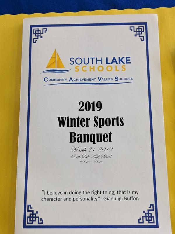 Winter sports banquet booklet