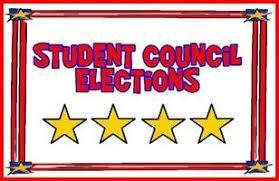 elections in red lettering with stars in yellow