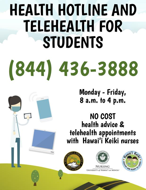 Free call-in health advice for students from our Hawai'i Keiki Health nurses Featured Photo