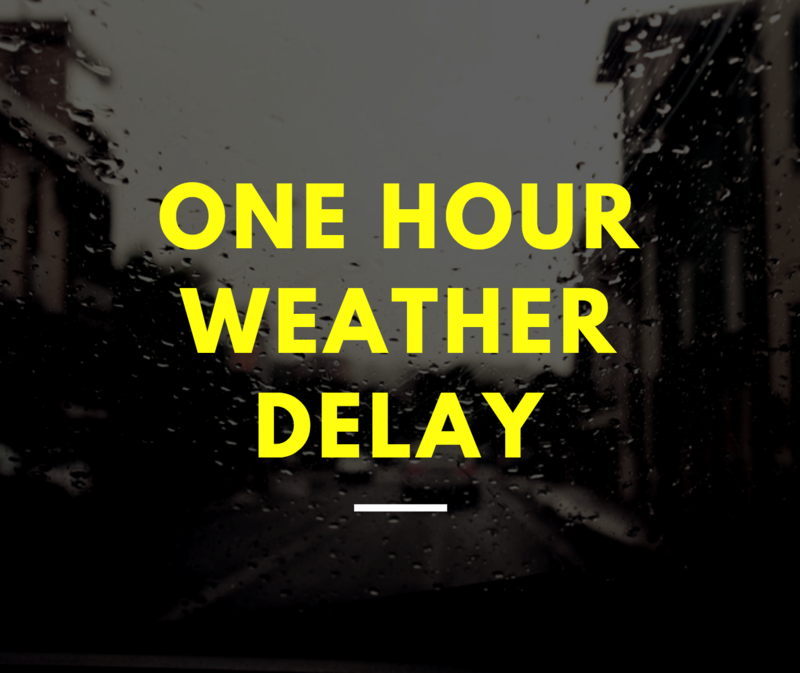 TSD-Knoxville One-hour weather delay graphic