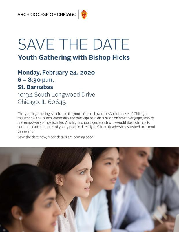 Youth Gathering with Bishop Hicks Featured Photo