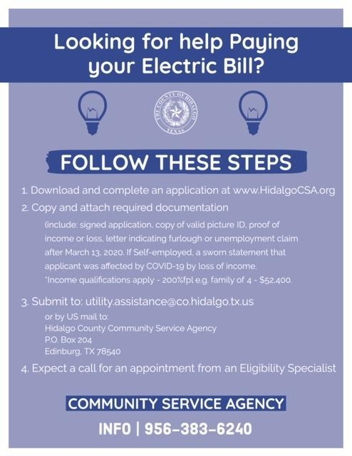 Help Paying Electric Bill Flyer