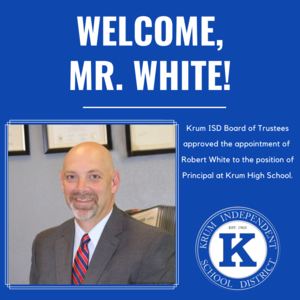 graphic reads welcome mr white with brief description and photo of robert white