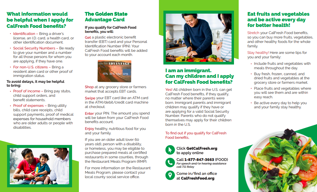 Cal Fresh Brochure