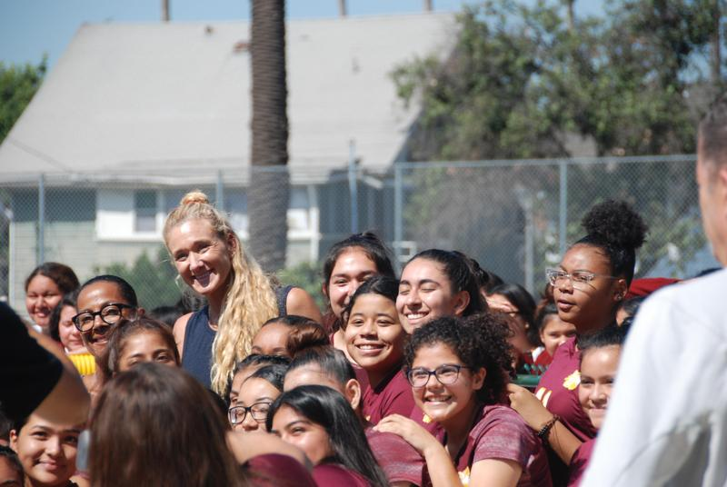 Kerri Walsh Jennings and the Good Tidings Foundation bring the beach to BCLHS Featured Photo